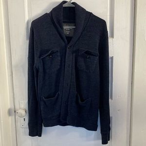 H&M L.O.G.G Navy Blue Coat